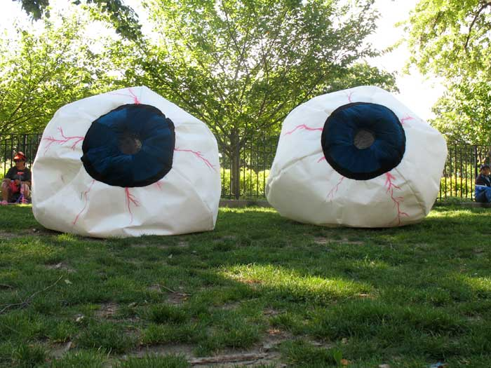 Photo: The Beholder, 2010 Polyester felt, 5 x 5 x 5 ft