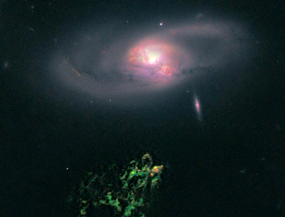 Photo: NASA, ESA, W. Keel (University of Alabama), and the Galaxy Zoo Team